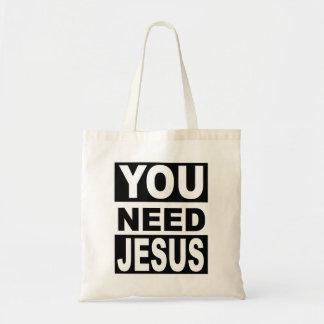 You Need Jesus Tote Bag