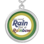 You need rain for a rainbow necklaces