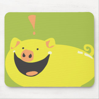 YOU NEED THIS STUPID SMILING PIG! MOUSE PAD