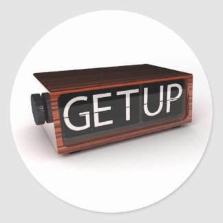 You need to get up classic round sticker