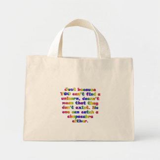 You need to work on your unicorn hunting skills mini tote bag