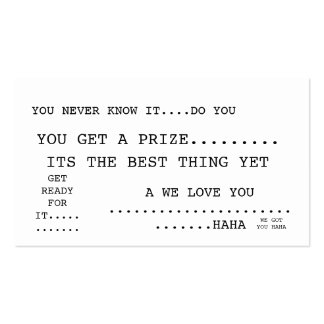 YOU NEVER KNOW IT....DO YOU, YOU GET A PRIZE...... Double-Sided STANDARD BUSINESS CARDS (Pack OF 100)