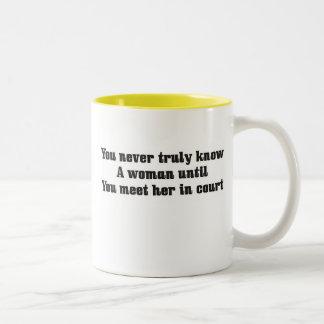 You never truly know a woman Two-Tone coffee mug