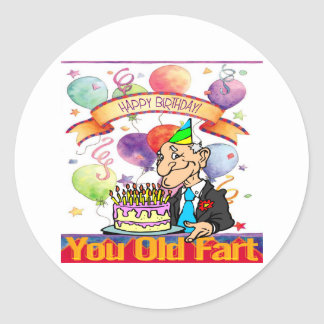 You Old Fart Classic Round Sticker