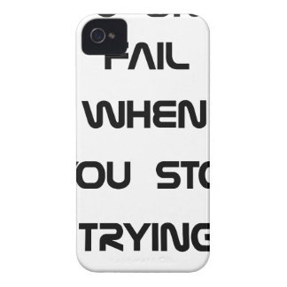 you only fail iPhone 4 Case-Mate case