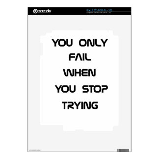you only fail skin for iPad 2