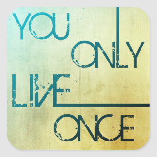 You Only Live Once - YOLO Stickers