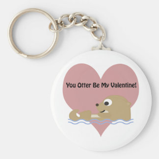 You Otter Be My Valentine Keychain