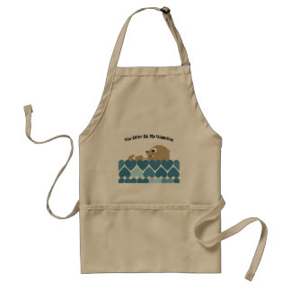 You Otter Be My Valentine with Hearts Adult Apron
