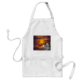 you owe me_Painting.jpg Adult Apron