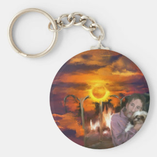 you owe me_Painting.jpg Keychain