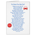 You Passed Road Test Greeting Card