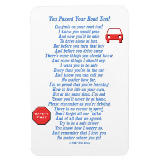 You Passed Road Test - New Driver Magnet