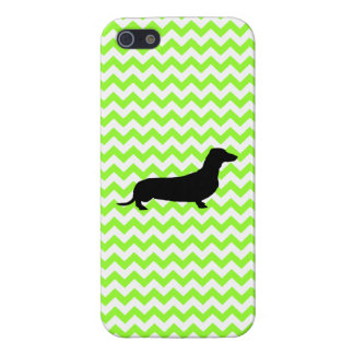 You Pick The Color Chevron With Dachshund Shadow Cases For iPhone 5