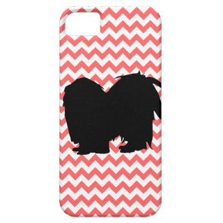 You Pick The Color Chevron With Shih Tzu Silhouett iPhone SE/5/5s Case