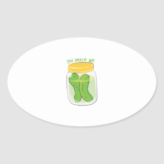You Pickle Me Oval Stickers