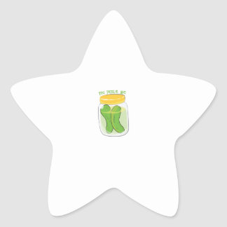 You Pickle Me Star Stickers