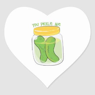 You Pickle Me Heart Stickers