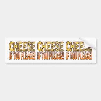 You Please Blue Cheese Bumper Sticker