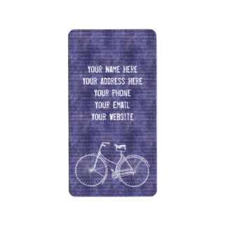 You Plus Bicycle Equals Happy Antique Bike Purple Label