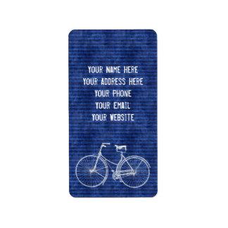 You Plus Bicycle Equals Happy Antique Stripes Blue Label