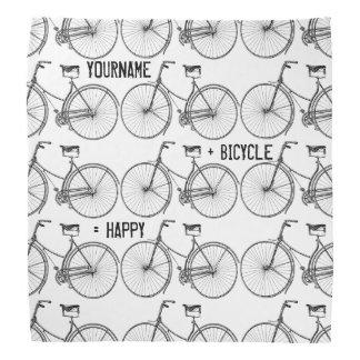 You Plus Bicycle Equals Happy Antique Wheels Bike Bandana
