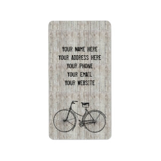 You Plus Bicycle Equals Happy Antique Wooden Plank Label