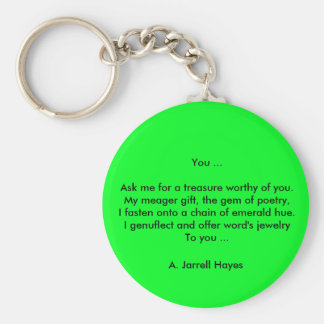"""You"" Poem Keychain"