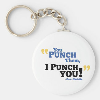 You Punch Them, I Punch You! Basic Round Button Keychain