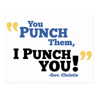 You Punch Them, I Punch You! Postcard