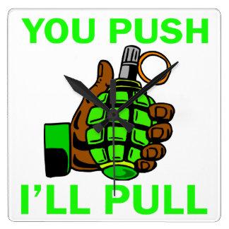 You Push Ill Pull Wallclocks