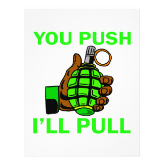 You Push Ill Pull Flyer