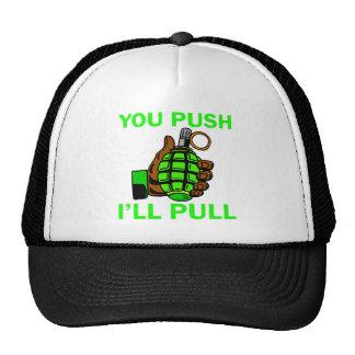 You Push Ill Pull Mesh Hats