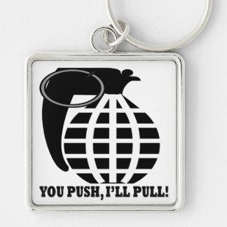 You Push Ill Pull Key Chain