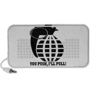 You Push Ill Pull Portable Speakers