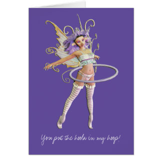 You put the hoola in my... stationery note card