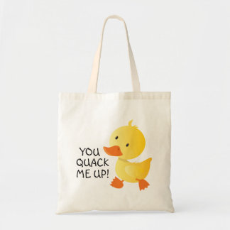You Quack Me Up Funny Duckling Tote Bag