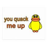 You Quack Me Up Postcards