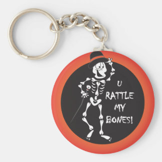 You Rattle my Bones Funny Halloween Keychain