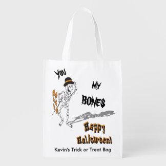 You Rattle My Bones Halloween Trick or Treat Bag