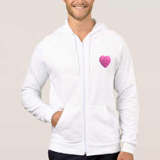 You're a Peeping Tom Pink Candy Heart Hooded Sweatshirt