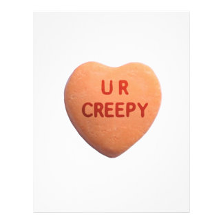 You're Creepy Orange Candy Heart Full Color Flyer