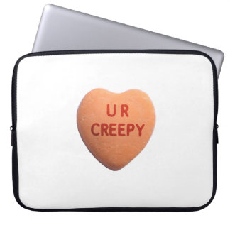 You're Creepy Orange Candy Heart Laptop Sleeves