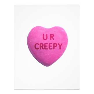 You're Creepy Pink Candy Heart Flyer