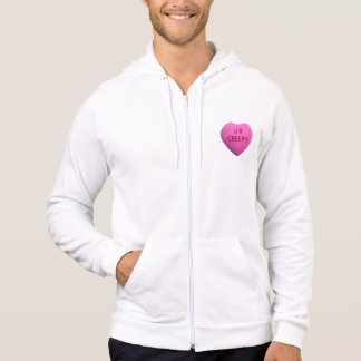 You're Creepy Pink Candy Heart Hooded Pullover
