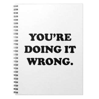 You're Doing It Wrong. Notebook