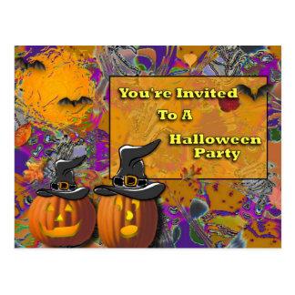 You' re invitada a un fiesta de Halloween Postal