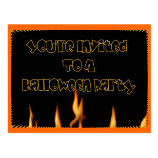 You' re invitada a un fiesta de Halloween Tarjetas Postales