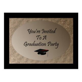 You' re invitada a una fiesta de graduación postal