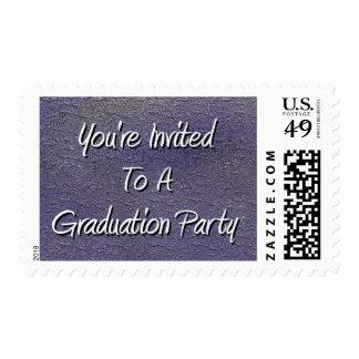 You' re invitada a una fiesta de graduación franqueo
